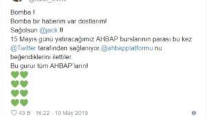 AHBAP'a twitter'dan burs