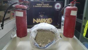 Yangın tüplerinden 11,5 kilogram eroin çıktı