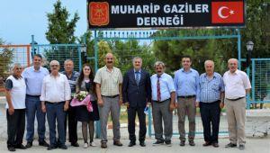 Kalkan'dan Muharip Gaziler Derneği'ne ziyaret
