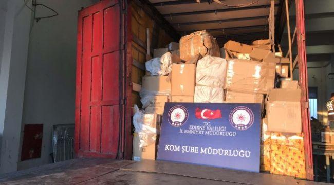 Kapıkule'de kaçakçılık operasyonu