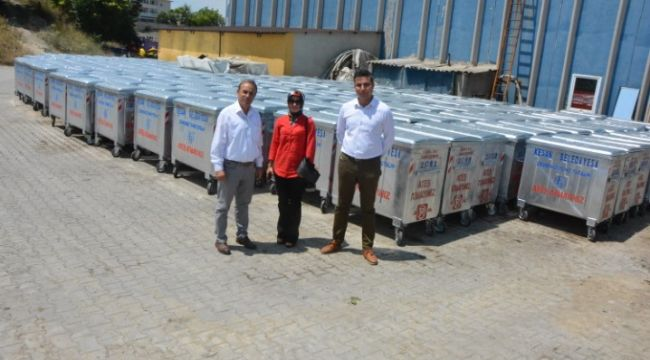 Keşan'a 200 yeni çöp konteynerı