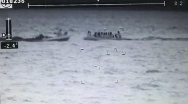 Enez açıklarında 49 düzensiz göçmen yakalandı