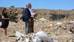 Helvacıoğlu hafriyat alanını inceledi