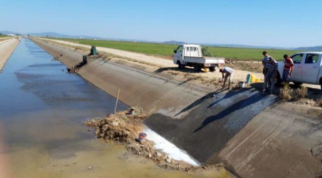 İpsala'da sulama kanalı onarıldı