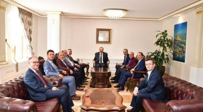 Marmara'nın başkanlarından Vali Canalp'e ziyaret