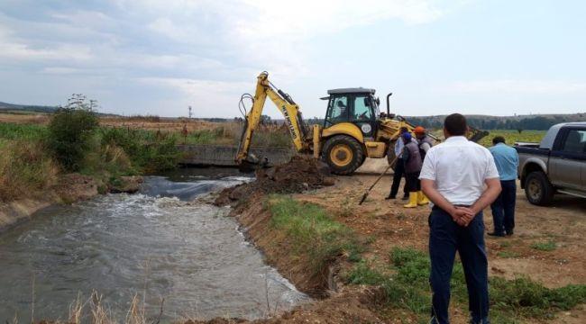 Sultanköy Barajı çeltik tarlalarını suladı