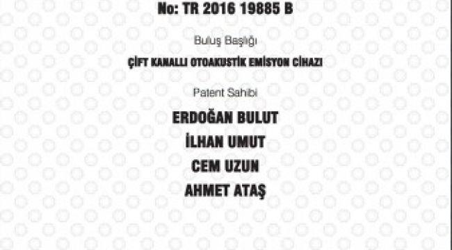 TÜ'ye bir patent daha