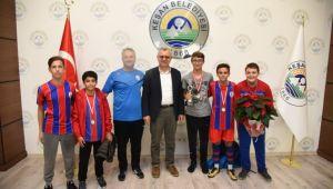 Atletizm takımından Helvacıoğlu'na ziyaret