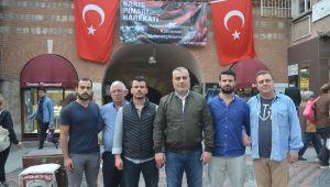 Esnaftan Mehmetçiğe destek afişi