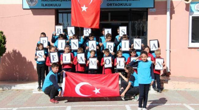Köy okulundan Mehmetçik'e şiir