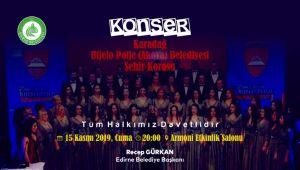 Edirne'de konser verecekler