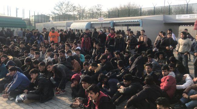 Tırdorsesinden117 kaçak göçmen çıktı