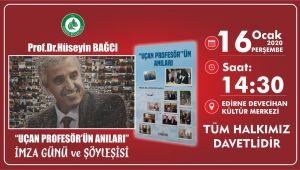 Edirneli profesörden imza günü