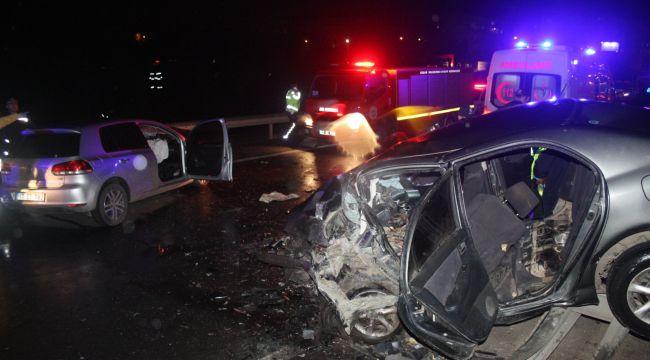 Trafik kazasınsa 3 ölü, 2 yaralı