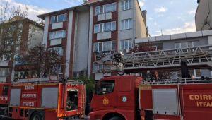 Edirne'de iş merkezinde yangın