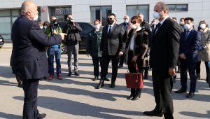 Vali Canalp ile Bulgaristan Başbakanı Borisov tamponda buluştu