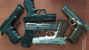 Çalınan 5 kuru sıkı tabanca bulundu