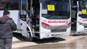 Edirne'nin Süloğlu ilçesinde toplu ulaşım durduruldu