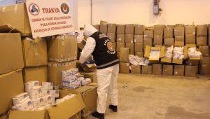 Tırda 767 bin tıbbi maske ele geçirildi