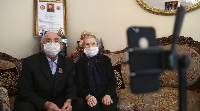 Cumhurbaşkanı Recep Tayyip Erdoğan, Vefa'nın yardım götürdüğü aileler ile görüştü