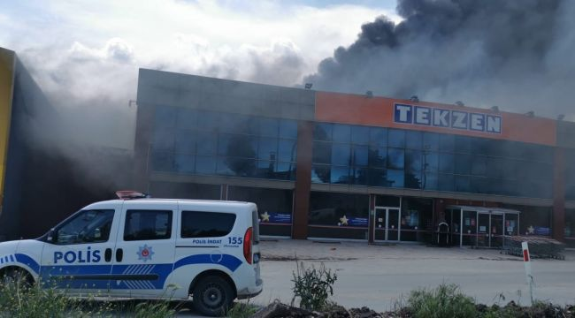 Edirne'de Yangın