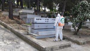 Mezarlıklara koronavirüs önlemi
