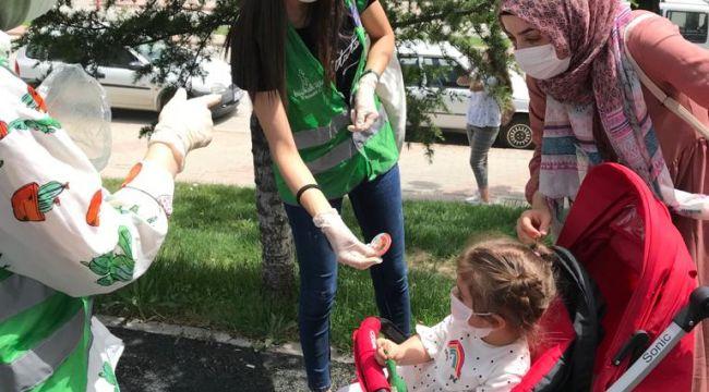 Yeşilay, çocuklar ile buluştu