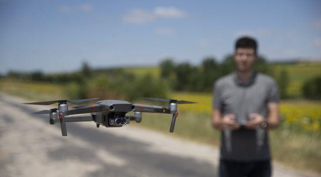 Drone ile nakil hatlarına bakım
