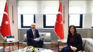 Milletvekili Fatma Aksal, Bakan Adil Karaismailoğlu'nu ziyaret etti