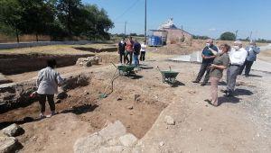 ETSO Edirne Sarayı kazı çalışmalarını yerinde inceledi