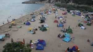 Saros'da bayram yoğunluğu