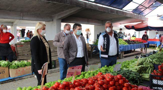 İlçe dışından gelen pazar esnafının girişi yasaklandı