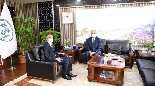 Vali Canalp'ten, DSİ Genel Müdürü Yıldız'a ziyaret