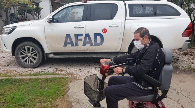 AFAD'tan 60 yaşındaki engelliye elektrikli araç
