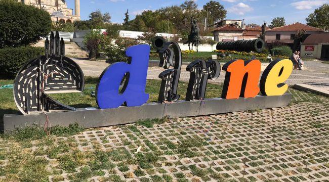 'Edirne' harfleri onarıldı