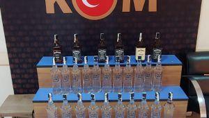 Keşan'da gümrük kaçağı içki ele geçirildi