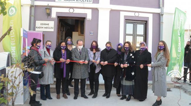 'Mor Ev Kadın Atölyesi' açıldı