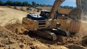 Saros'da başlayan liman inşaatına tepki