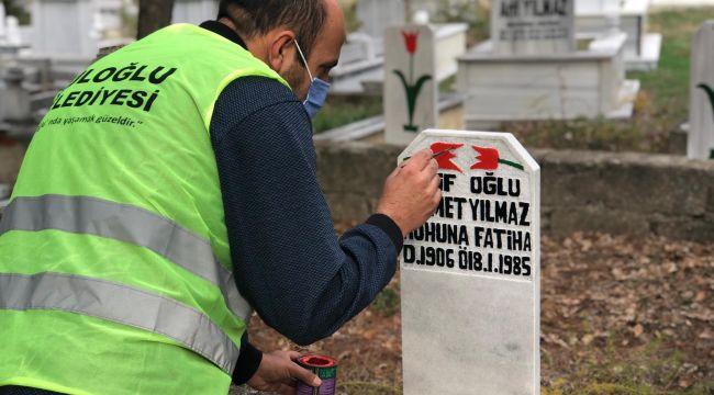 Süloğlu'nda mezar taşlarında bakım ve yenileme