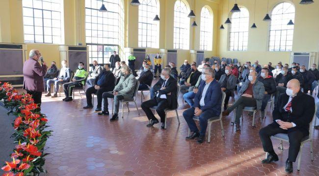 Taksici esnafı ile KOVİD-19 toplantısı