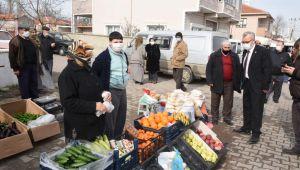 Paşayiğit mahallesinde semt pazarı kuruldu
