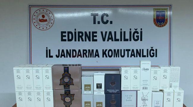 Romanya otobüsünde 58 kaçak parfüm ele geçirildi