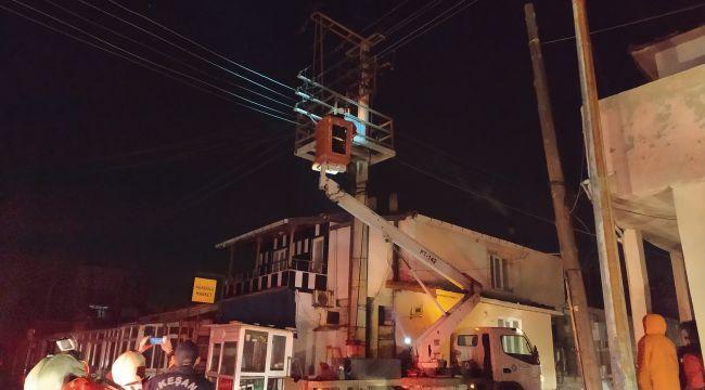 Trafodaki yangın enerji kesintisi neden oldu