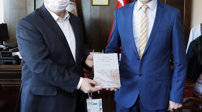 Edirne tramvay hattı projeleri kitabı yayımlandı