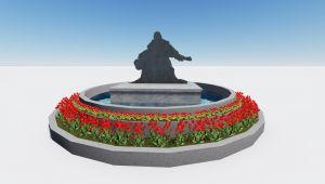 Kırkpınar heykelinde 40 pınar fışkıracak