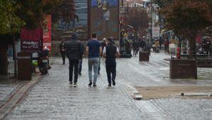 Edirne'de yağmur beklerken dolu yağdı