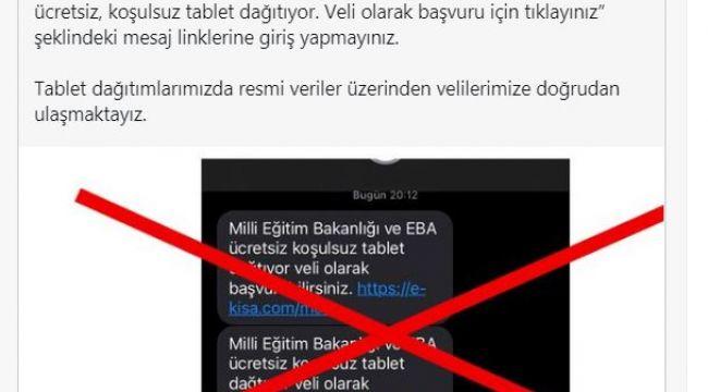 Edirne MEB'ten tablet dolandırıcılığı uyarı