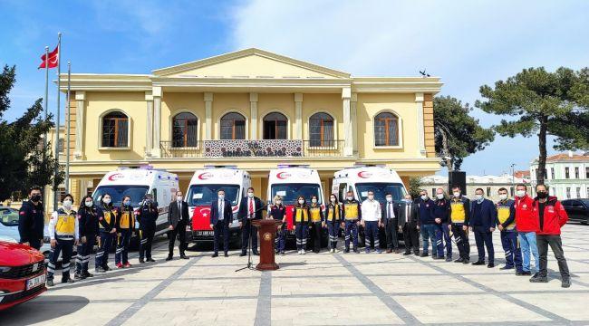 Edirne'ye 4 yeni ambulans