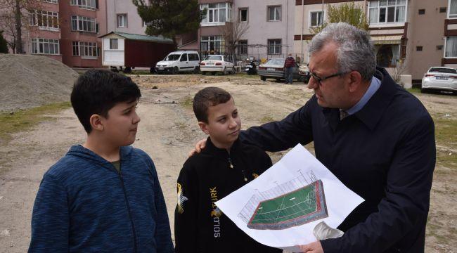 Helvacıoğlu'ndan semt sahası açıklaması