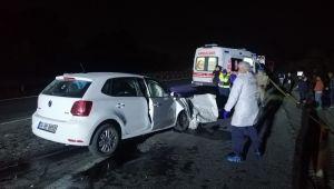 Kamyona arkadan çarpan otomobilin sürücüsü yaşamını yitirdi